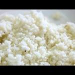 "Cauliflower ""Rice"" in 1 Minute"
