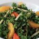 Raw Kale Salad w/ Apples, Oranges, Persimmons & Nuts