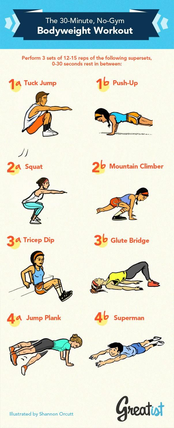 The no gym 30 minute weight loss workout infographic ccuart Image collections